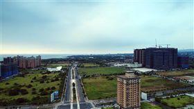 淡海新市鎮。(圖/新北捷運局提供)