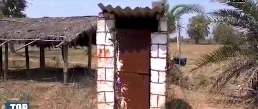 印度,廁所(圖/翻攝自Gaon Connection TV YouTube)