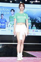 蔡依林出席渣打臺北公益馬拉松記者會。(圖/記者林士傑攝影)