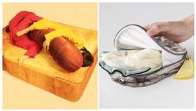 日本無極限!「一根熱狗吐司床、牡蠣包包」網笑:吃貨必備