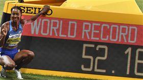 ▲美國田徑女將穆罕默德(Dalilah Muhammad)刷新400公尺跨欄世界紀錄。(圖/美聯社/達志影像)