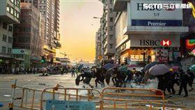 1002香港旺角衝突(圖/三立新聞駐港記者王志杰攝影)