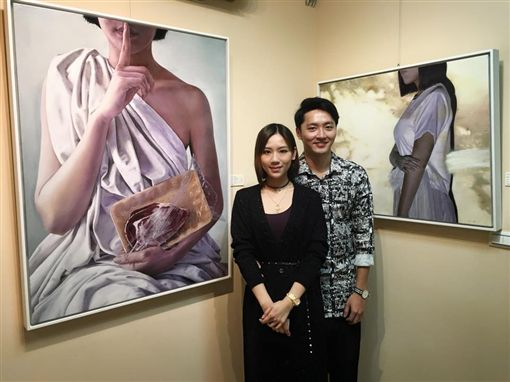 馬俊麟跟老婆梁敏婷。(圖/翻攝自臉書)