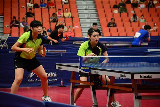 ▲全運會桌球女子雙打金牌戰。(圖/全運會提供)