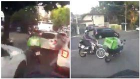 國外UberEats外送男子逃離警方追捕,逆向飛車等等違規來。(圖/翻攝自TESTA Maletas De Aluminio臉書)