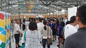 台灣設計展首日突破20萬人次2019台灣設計展5日開展,屏東縣政府表示,為期16天的展覽,首日參觀人次即突破20萬人次,已打破歷屆設計展紀錄。(屏東縣政府提供)中央社 108年10月6日