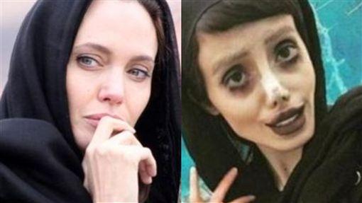 Sahar Tabar,伊朗,Angeline Jolie,整形,喪屍,化妝,修圖,正妹,真面目 圖/翻攝自推特