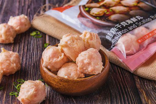 ▲美威鮭魚干貝海鮮丸(圖/美威鮭魚提供)
