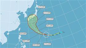 快訊/「哈吉貝」變強颱!開眼急速增強 恐成今年最強颱風 圖/中央氣象局