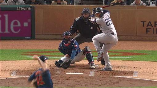 ▲托瑞斯(Gleyber Torres)敲出季後賽首轟。(圖/翻攝自MLB官網)