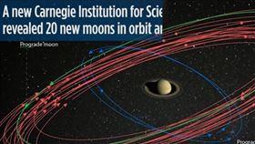 土星增加20顆衛星,戰勝木星贏得太陽系衛星競賽。(圖/翻攝自YouTube-《VideoFromSpace》頻道)