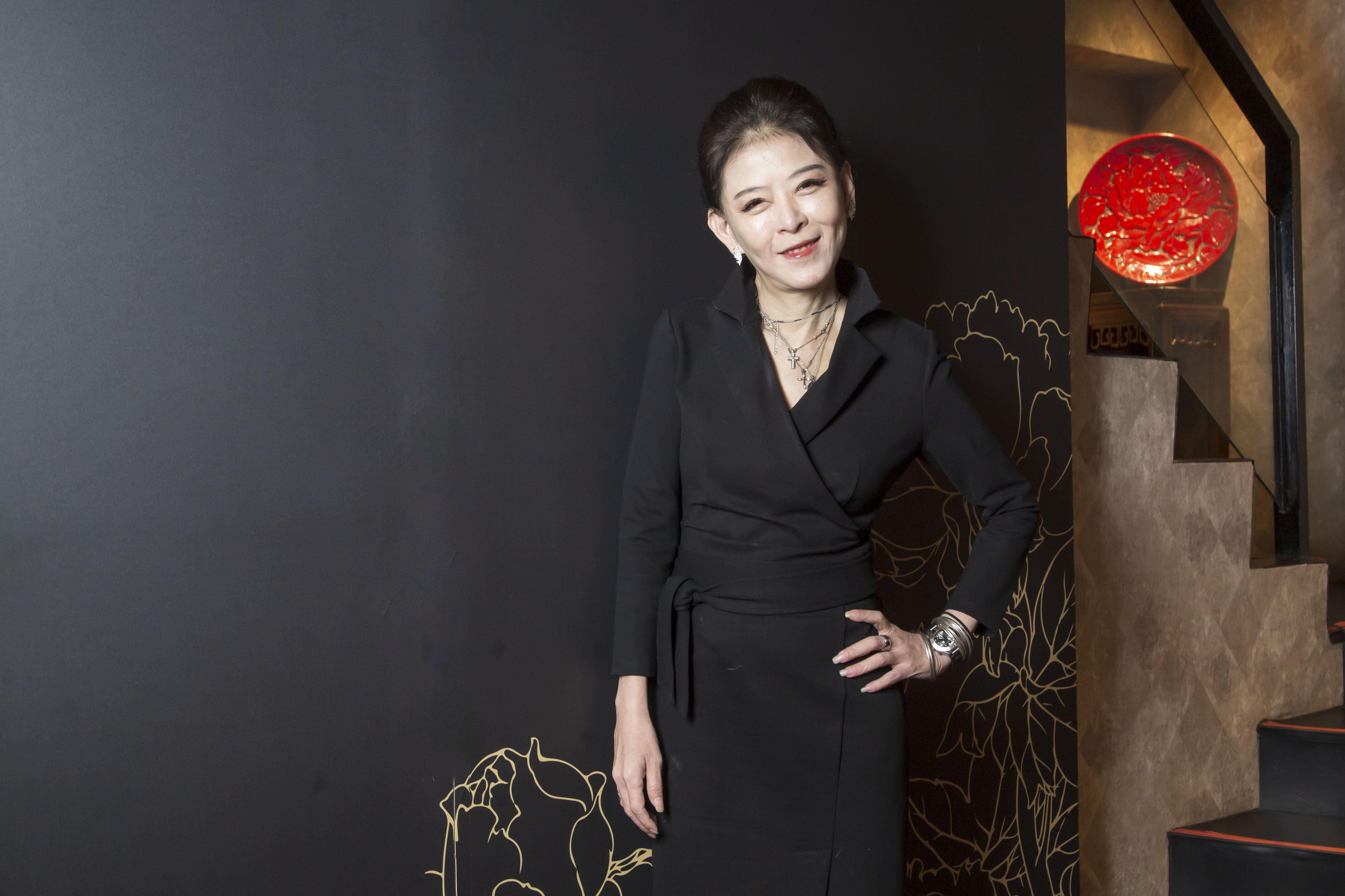 美魔女孫筱渥接受三立新聞網專訪。(圖/記者林士傑攝影)