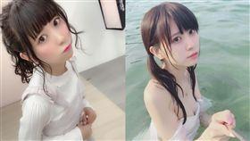 日本正妹YouTuber遭流出 女上狂搖還自己掌鏡 圖/翻攝自楠ろあIG