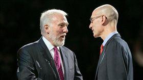 NBA/總裁不道歉 馬刺波總說話了 NBA,Adam Silver,Gregg Popovich