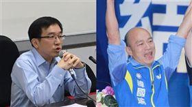 韓國瑜,陳致中,請假,高雄市,2020總統大選。(合成圖/臉書;記者邱榮吉攝影)