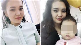電梯失速上升!女主播遭門夾斷腿⋯爆血慘死 3歲女全目睹(圖/翻攝自臉書)