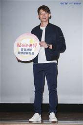 溫昇豪出席視障關懷服務公益記者會。(圖/記者林士傑攝影)
