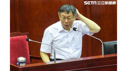 柯文哲出席台北市議會第二次定期大會。(圖/記者李依璇攝影)