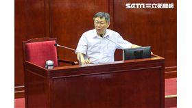 台北市長柯文哲出席台北市預算總質詢。(圖/記者李依璇攝影)