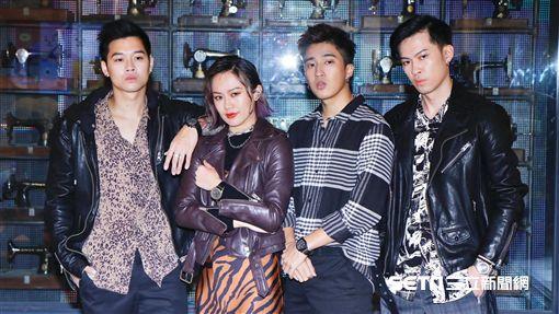 新生代嘻哈團體Ching G Squad,成員婁峻碩,唐仲彣,芮德,高爾宣(記者林聖凱攝影)