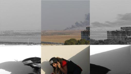 土耳其總統艾爾段派9日宣布派軍隊跨境進入敘利亞,在敘利亞北部發起「和平之泉行動」,圖為敘利亞北部已見濃煙。(圖/中央社/安納杜魯新聞社提供)