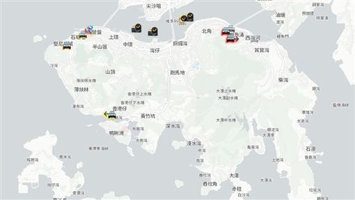 中國官媒,抨擊,香港,蘋果,下架,地圖手機app(圖/翻攝自HKmap.live)