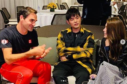 周杰倫、昆凌、費德勒(Roger Federer)/周杰倫IG