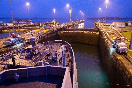 巴拿馬運河,中美貿易戰,不受影響,貨運量,創新高(圖/中央社)