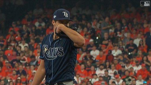 ▲光芒第五戰先發投手葛拉斯諾(Tyler Glasnow)。(圖/翻攝自MLB官網)