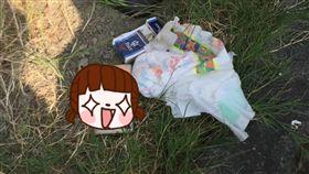 亂丟垃圾,檢舉,手機,台南,安平古堡,停車場,尿布,連假