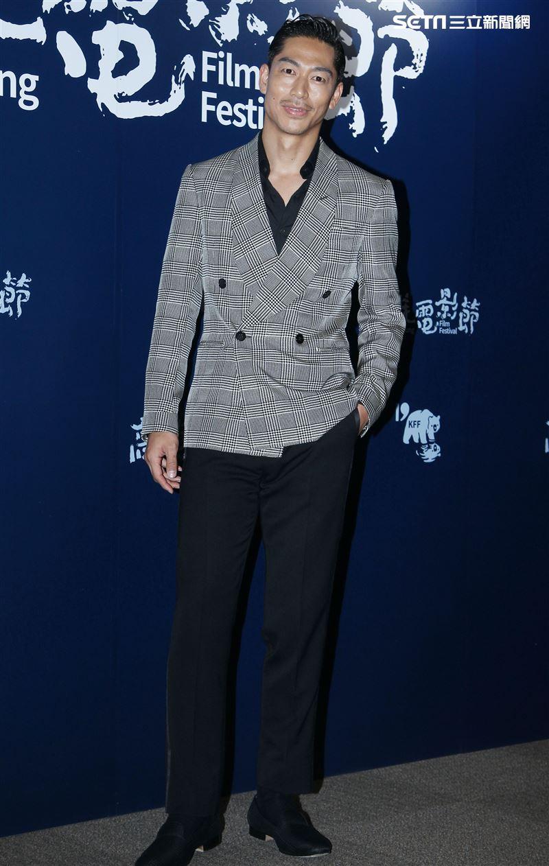 「燦爛星空下 Beautiful」短片主角Exile Akira出席高雄電影節。(記者邱榮吉/攝影)