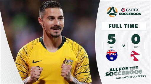▲澳洲以5:0戰勝尼泊爾。(圖/取自推特)