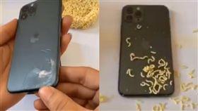 泡麵,修繕,抖音,Reddit,填充,上色,中國,iPhone 11 Pro,上色,填充, 圖/翻攝自YouTube