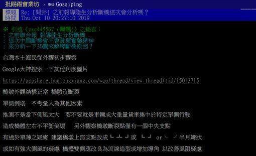 央視新聞,江蘇,無錫,高架橋,倒塌,知乎論壇,PTT 圖/翻攝自PTT