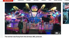 英國,嘉年華,遊樂設施,赫爾遊樂園,Air Maxx 360。(圖/翻攝自the sun)