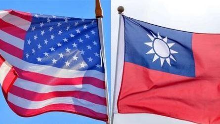 中華民國國旗,美國國旗,組合圖
