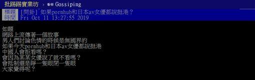 AV女優,香港,反送中,表態,支持,盜版,PTT 圖/翻攝自PTT