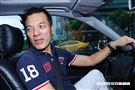 朱永德把自己的賓士車拿來開Uber。(圖/記者林聖凱攝影)