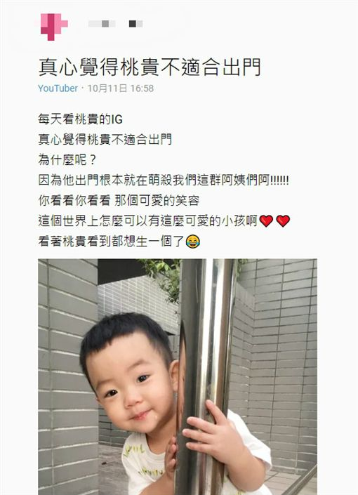 有網友分享蔡桃貴不適合出門一文,引起許多喜歡蔡桃貴的粉絲討論。(圖/翻攝自Dcard)