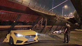 無錫高架橋倒塌(漢森供應鏈董事長黃剛微博)