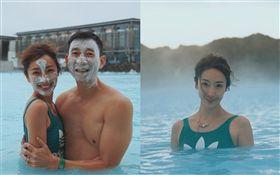 隋棠和老公Tony/冰島旅行。翻攝臉書