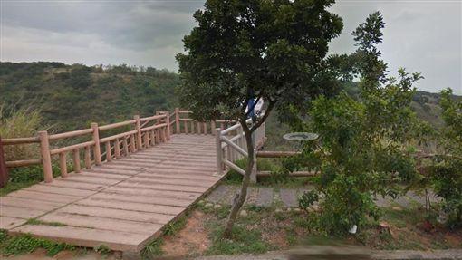 台中,龍井區,竹坑南寮步道,觀景台,曖昧(圖/翻攝google)