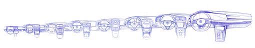 ▲Volkswagen The all-new Golf設計圖(圖/翻攝網路)