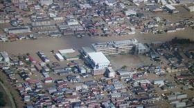 福島,輻射,汙染,垃圾,淹水,哈吉貝,日本,大雨,存儲區,河流, 圖/翻攝自推特