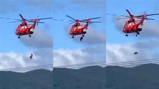 福島,颱風,哈吉貝,救難,救援,日本,直升機,老婦,颱風,失誤, 圖/翻攝自YouTube