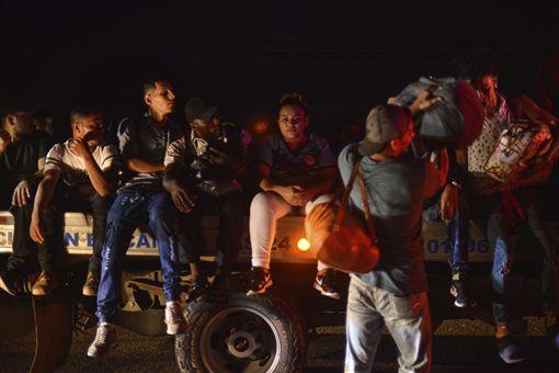 墨西哥移民大篷車(圖/美聯社/達志影像)