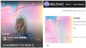 伊朗音樂網站因宗教理由,所以女性女歌手都被修圖,笑翻網友。(組合圖/翻攝自MELOVAZ網站,KKBOX)