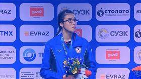 ▲輔仁大學拳擊女將黃筱雯在2019世界女子拳擊錦標賽54公斤量級奪金。(圖/AIBA大會提供)