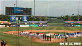 ▲棒球亞錦賽韓國與中國隊比賽。(圖/記者蕭保祥攝影)