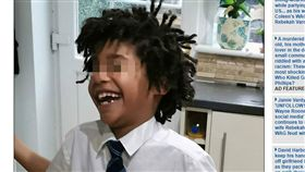 圖/翻攝自dailymail) https://www.dailymail.co.uk/news/article-7568203/Par-Cornwall-school-boy-Finley-Sullivan-gets-racist-abuse-N-word-school.html